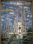 Art begets art - tile art of Gaudi's Sagrada Familia, Barcelona metro